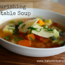 Tips for buying organic on a budget (and a nourishing vegetable soup)
