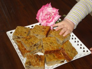 prune and pear slice