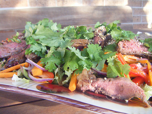 easy thai beef salad - adapted from Julie Goodwin