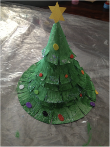 Paper Plate Christmas Tree Craft & Paper Plate Christmas Tree Craft for Kids