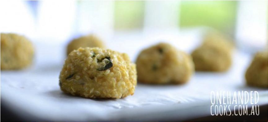 Crispy Baked Veggie Quinoa Balls