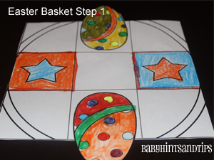 Easter Basket Colouring Activity {Craft} For Kids