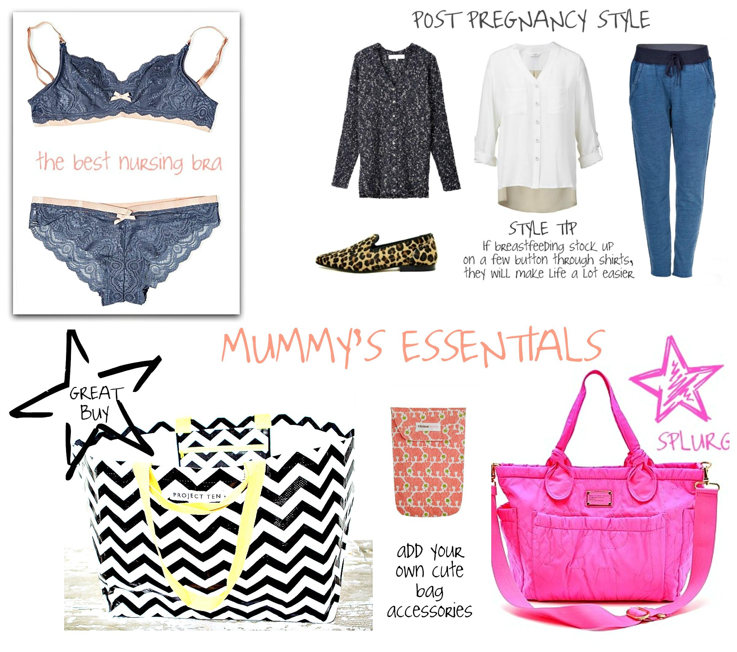 mummy's essentials collage