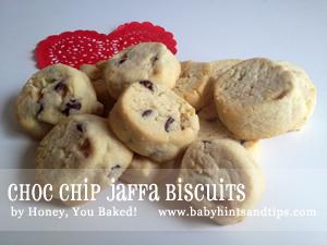 Choc Chip Jaffa Biscuits
