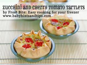 Zucchini and cherry tomato tartlets