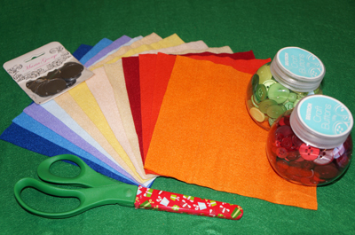 Felt Christmas tree craft - what you will need