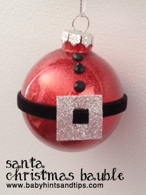 how to put a name cut out into a bauble