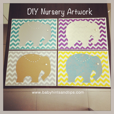 Elephant Nursery Artwork DIY {Craft} Idea