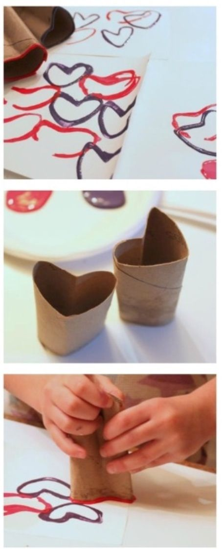 toilet roll heart stamp