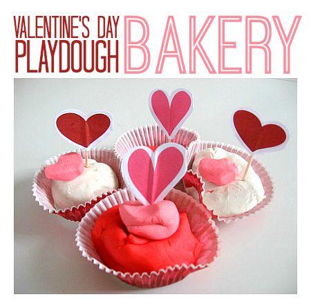 valentine's day playdough bakery