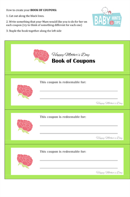 Mothers Day Coupons Blank