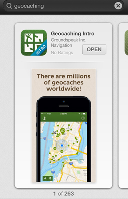 geocaching app