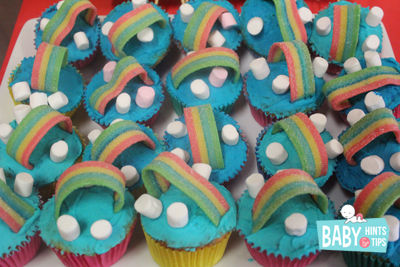 Rainbow birtday party cupcake recipe