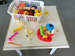 Playdough aftermath