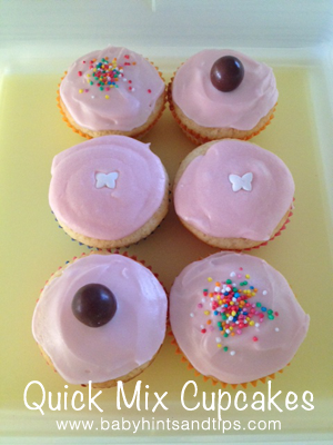 Quick Mix Cupcakes   Baby Hints and Tips